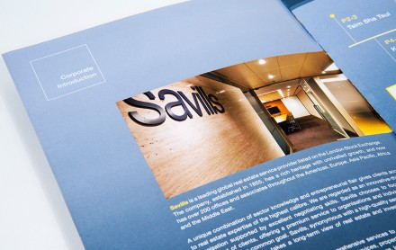 Savills Property Management Limited (Brochure Design, Illustration & Book Design)