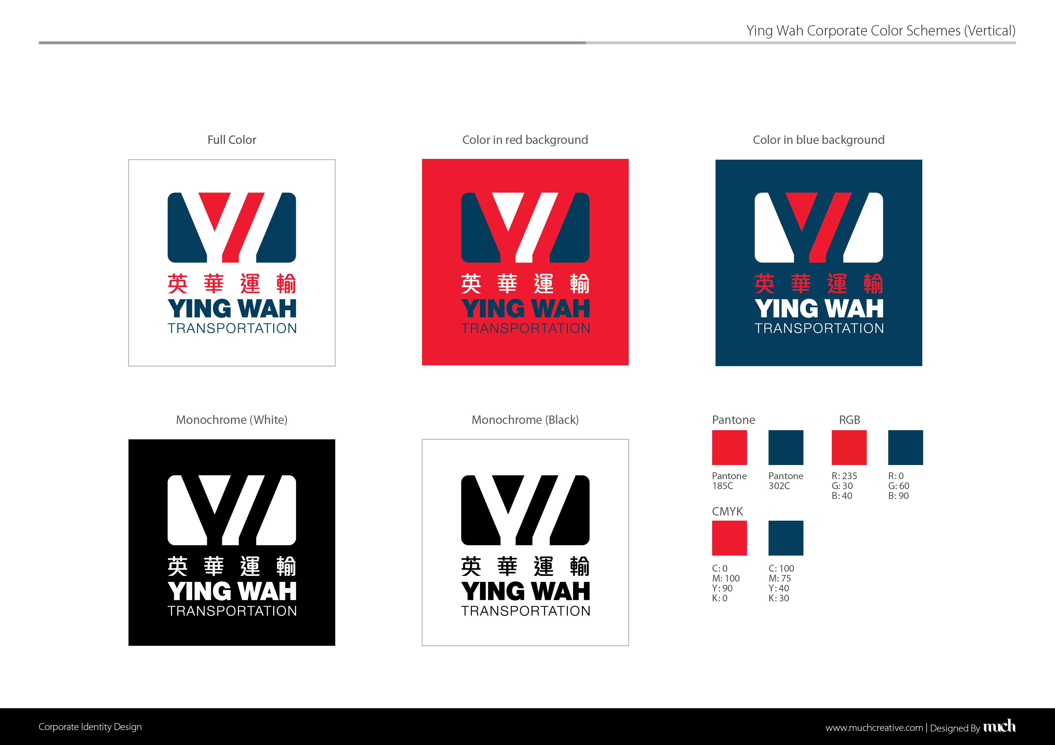 Ying Wah Transportation LOGO DESIGN SYSTEM