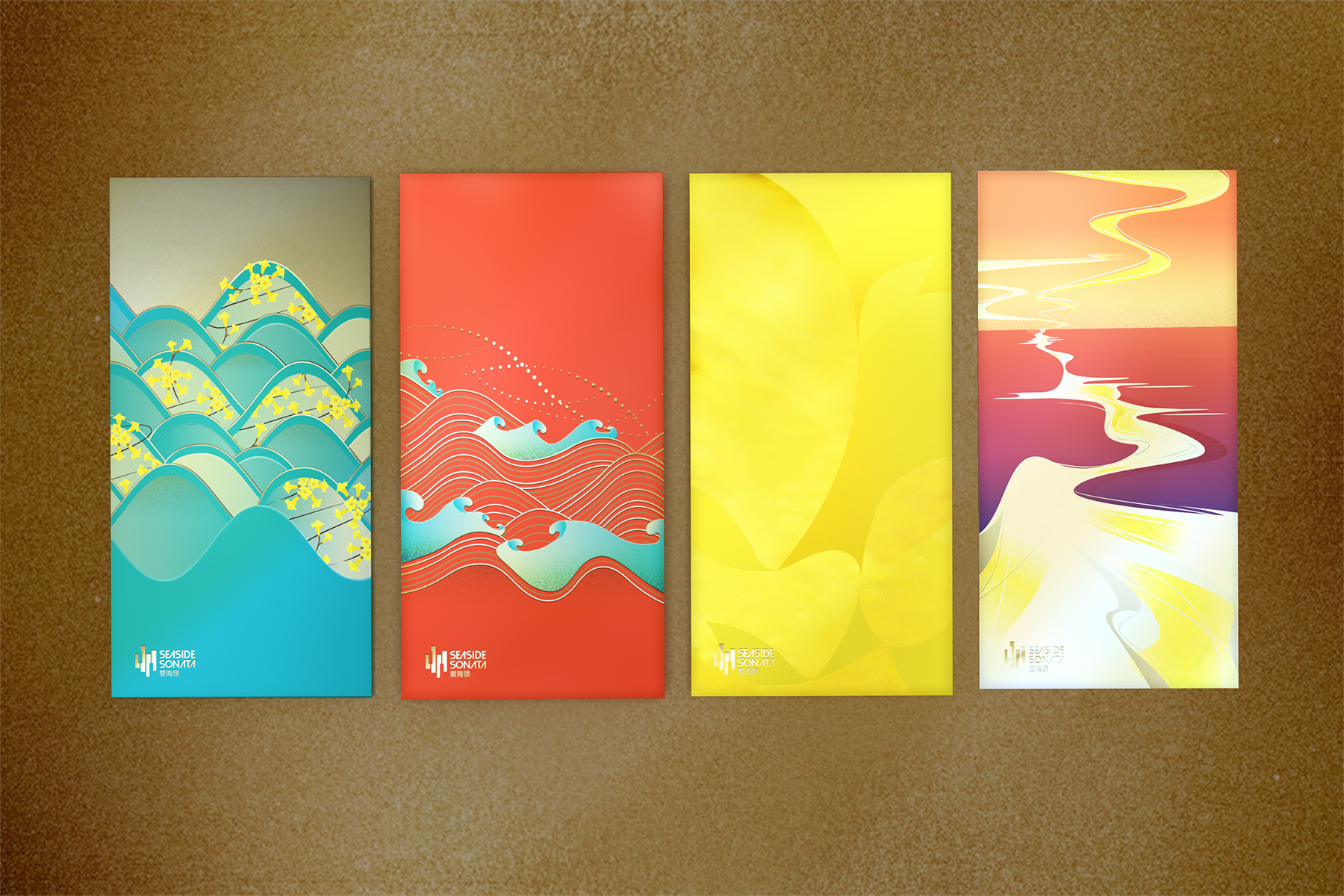愛海頌利是封設計seaside sonata red pocket design